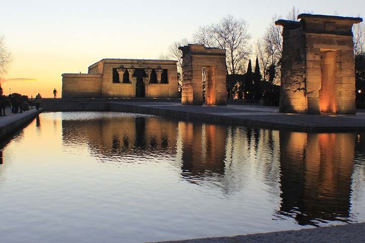 Temple-of-debod-sunset